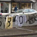 Aktionen gegen Leerstand in der Huttenstraße 71