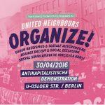 """Demo im Wedding """"United Neighbours - Organize!"""" mit über 4.000 Teilnehmer*innen"""