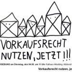 Demonstration für Vorkauf: 4. August, 11 Uhr, Rathaus Müllerstraße