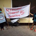 Kundgebung gegen Leerstand - Perleberger Straße 13